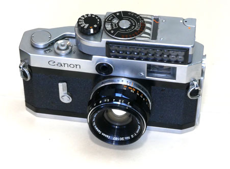 Canon P with lightmeter